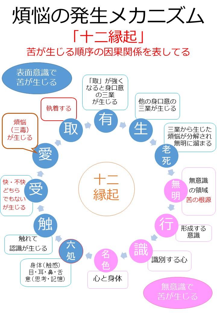 十二縁起(じゅうにえんぎ)「図解」