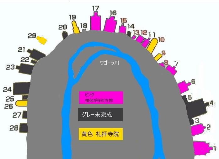 アジャンタ石窟群 配置図